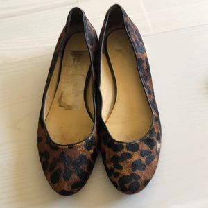 Cole Haan Leopard Print Hair Flats with minor heel